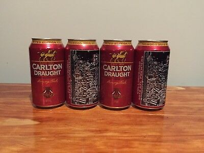2010 Collingwood Premiership Limited Edition Carlton Draught Beer Cans 4 Pack
