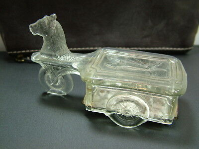 1923 Victory Glass Co. Candy Container, Kiddie Kar/Hobby Horse