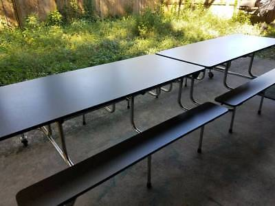 Cafeteria Lunch Table 12ft Folding Rolling Table
