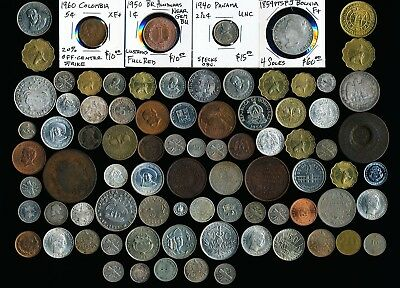 83 Old Latin & South America Coins (Many Collectibles Here) No Reserve