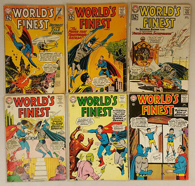 WORLD'S FINEST # 125, 128, 129, 143, 144, 146  Published By DC Comics 1960's