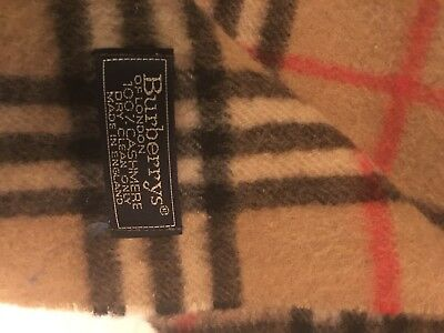 100% Authentic Brown Burberry*The Classic Check 100% Cashmere Made in Scotland