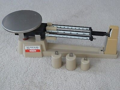 OHAUS TRIPLE BEAM BALANCE SCALE with weights 700 SERIES 2610g 800 SERIES 5lb 2oz
