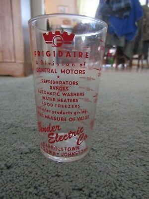 Vintage Frigidaire Glass Measuring Cup Bender Electric Advertising ALTOONA, PA.