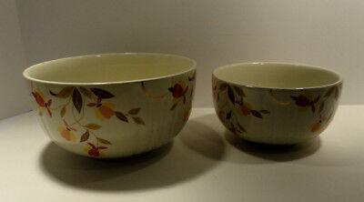Vintage Hall Autumn Leaf Mixing Bowls Set of Two