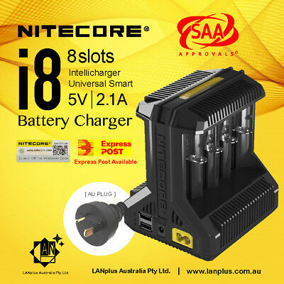 Nitecore i8 Intelligent Universal Battery Charger 8-Slot 18650 Li-ion NiMh NiCd