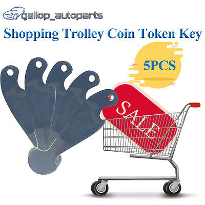 5PCS Shopping Retractable Trolley Token Key  Coles Woolies NO Coin Unlocker
