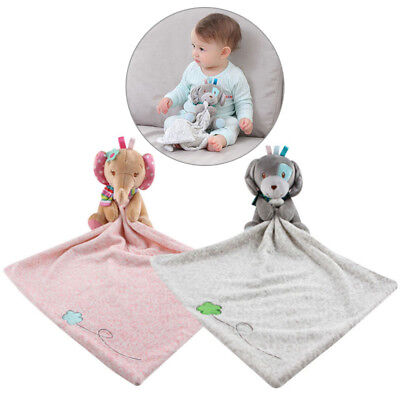 Personalised Baby Elephant Comforter Security Blanket Baby Hold Cartoon Toys 1PC