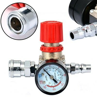 "1/4"" Air Compressor Regulator Pressure Switch Control 180PSI Valve with Gauges"