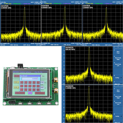 ADF4351 RF Sweep Signal Source Generator Board 35M-4.4G+ STM32 TFT Touch LCD TP