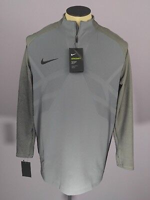590b9b58 Nike Strike Aeroswift 1/4 Zip Soccer Drill Top Cool Grey Mens Size XL 807034