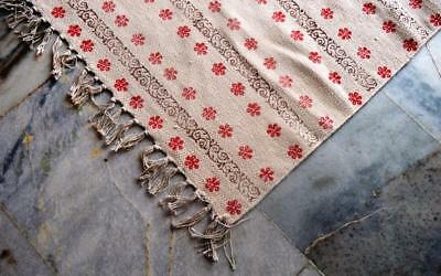 Cotton Indian Handmade Turkish Rug,Dhurrie Carpet Cotton Hand Printed Lot of 5PC