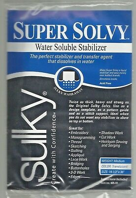 Sulky Super Solvy - Medium Weight Water Soluble Stabiliser