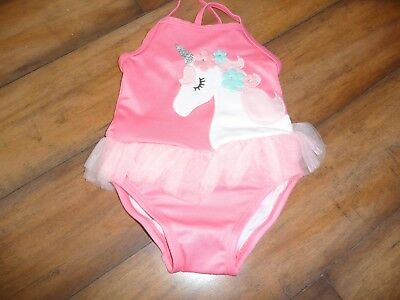 NWT Girls Gymboree ruffle Unicorn pink Swimsuit size 3T NEW Unicorn University