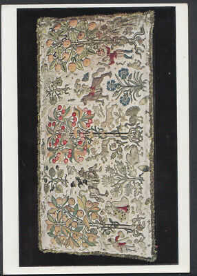 Museum Card - Cushion Cover - Silk and Silver Thread on Canvas  RR2752