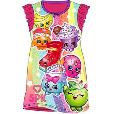 Girls Nightie Nightdress Character Disney Cartoon Shopkins