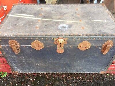 Vintage Large Wooden Chest Storage Clothes Toys Keepsake Antique Gift
