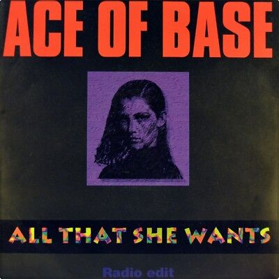 "7"" ACE OF BASE All That She Wants/Banghra Version METRONOME House 1992 like NEW!"