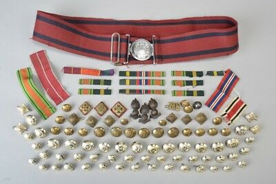 WW2 Veteran Royal Engineers Officer's Stable Belt, Medal Ribbons etc. EEO