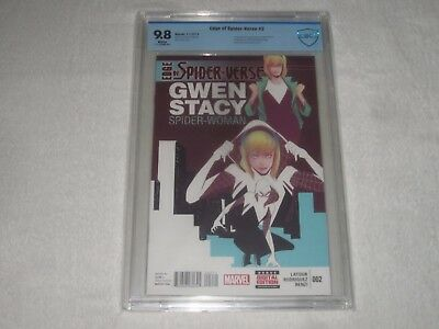 Edge Of Spider-Verse 2 Cbcs 9.8 First Appearance Of Spider-Gwen