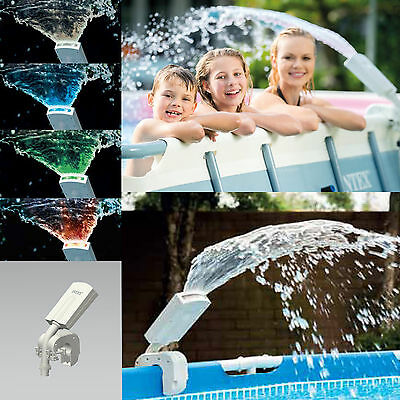 Intex Fuente de Agua Fuente Cascada Multi Coloreada Pool LED Pool 28089