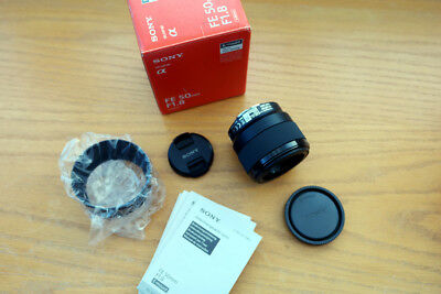 Sony FE 50mm f/1.8 Lens for Sony E-Mount - SEL50F18F-  Brand New Unused - Boxed