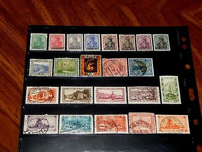 Saar stamps for sale - 23 mint hinged and used early stamps - very nice !