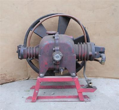 Vintage Antique 1920s 1930s 2 Stage Flat Belt Air Compressor Pump Industrial