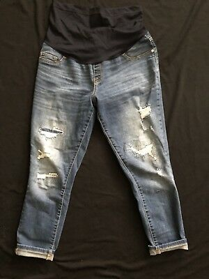Liz Lange Distressed Maternity Jeans Skinny Size Medium