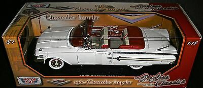 1960 Chevy Impala Conv: 1:18 Scale Diecast Metal Timeless Classics Motor Max New