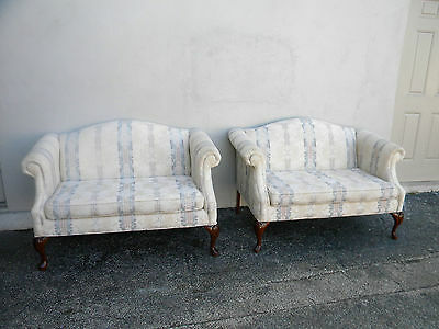 Pair of French Love Seats  Settees by Bassett 2682X