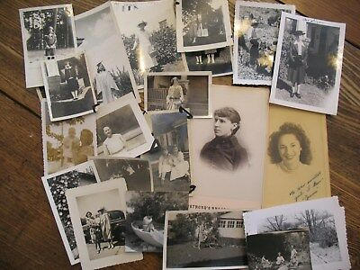 Just the girls Vintage photo lot of 25; old, antique photographs  c1910-1960's