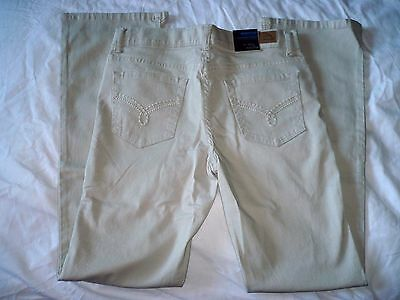 Girls Jordache Bootcut Jeans Adjustable Waist Sand Color Size 16 1/2 Plus  NEW