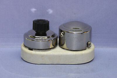 """Vintage GE Chrome / Porcelain """"REMINDER"""" Rotary Switch w/ BUZZER - 2A - RARE"""
