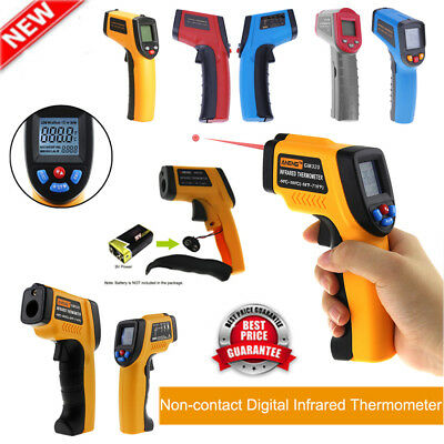 LCD Temp Meter Temperature Gun Non-contact Digital Infrared IR Thermometer Test