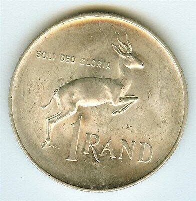 South Africa 1966 Silver Rand  Near Gem Uncirculated