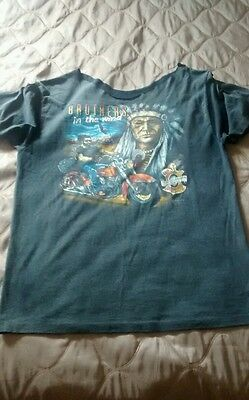 Thin vintage Harley Davidson brothers in the wind T-shirt 3d emblem.