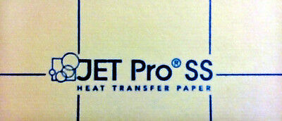 "JET PRO SOFT STRETCH INKJET TRANSFER FOR WHITE FABRIC: IRON-ON (8.5""x11"") 50CT"