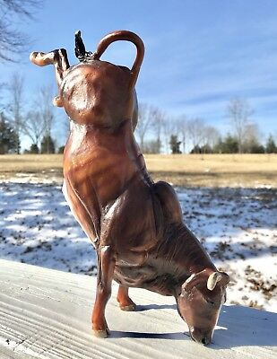 Breyer Classic BUCKING BULL_Retired & Rare_Brindle Variation_Good Condition!