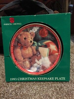 1993 Christmas Keepsake Plate American Greetings Christmas Is A Time For Dreams
