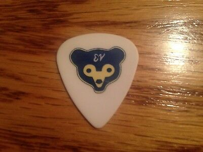 Pearl Jam Eddie Vedder Guitar Pick Rare Chicago Cubs Wrigley Field 2016 Concert
