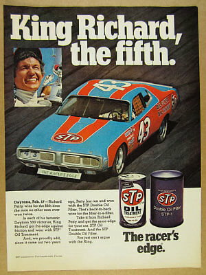 1974 STP Richard Petty Dodge Charger Daytona 500 Winner photo vintage print Ad