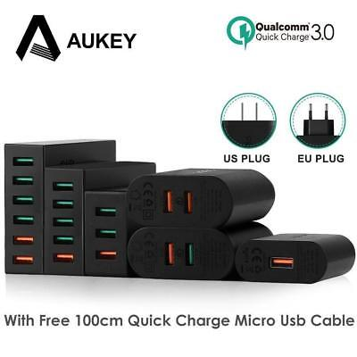 AUKEY Quick Charge 3.0 Mobile Phone Charger USB Desktop & Wall Charger for phone