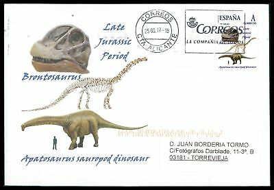 Spain Dinosaur 2017 Dinosaure Dinosaurier Custom Stamp - Only 5 Cover Made! Cm46