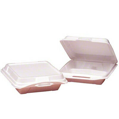 Genpak® Large 3 Compartment Hinged Container - White (Case of 200)