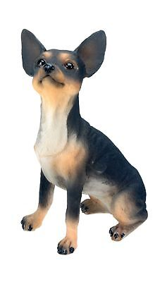 Chihuahua (Black) Dog - Collectible Statue Figurine Figure Sculpture by Steal...