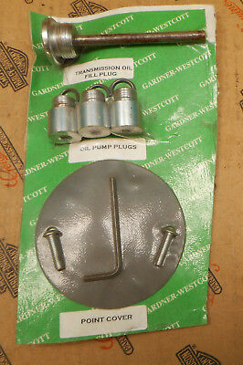 Oil Fill Plug, Oil Pump Plugs, Points Cover Gasket w Screws for Harley Cpics4Fit