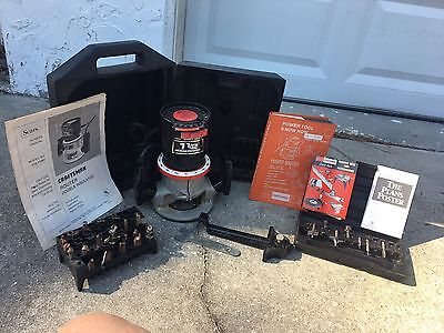 Sears Craftsman 1 1/2 HP Router  Double Insulated w/ Case & 20 Misc Bits