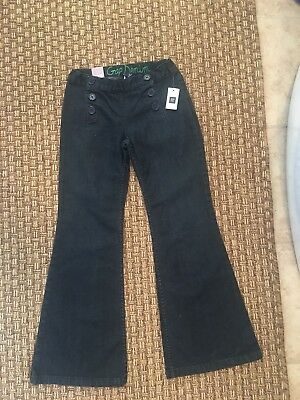 GAP Kids Girls Flare Adjustable Button Front Dark Denim Jeans Size 8 NWT!!