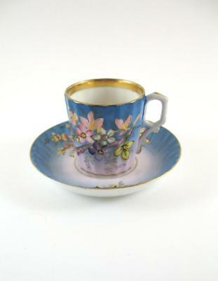 Antique Imperial Russian  Kuznetsov  Porcelain Cup Saucer  c1900